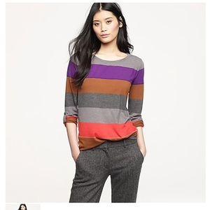 Jcrew colorblock stripe long sleeve tee